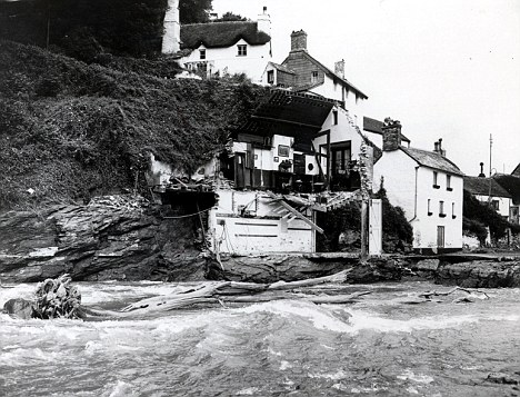 Damage from the Lynmouth Flood of 1952