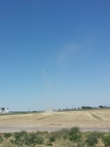 An admittedly unimpressive shot of a dust devil.