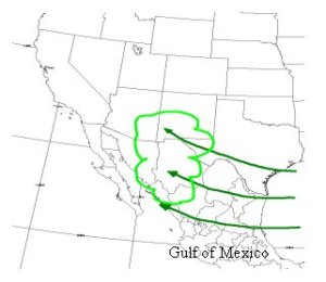 Under the right wind patterns, the Gulf of Mexico can be a near endless source of moisture for the American southwest.
