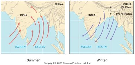 The Tibetan Monsoon Wind Pattern