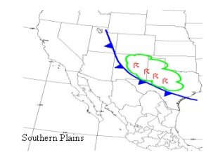 Here, a backdoor cold front is bringing moisture in from the southern plains.