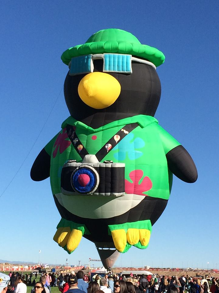 The tourist penguin was my favorite balloon.