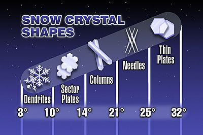 different snowflake shapes