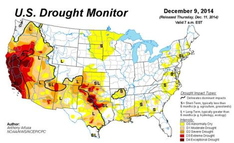 Let us hope to see less exceptional drought in the next map.