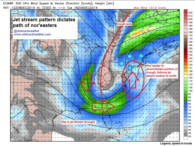 trough jet nor'easter