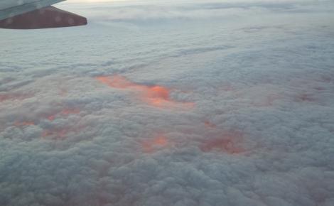 Lake Erie at Sunset Below Stratocumulus Cloud Deck
